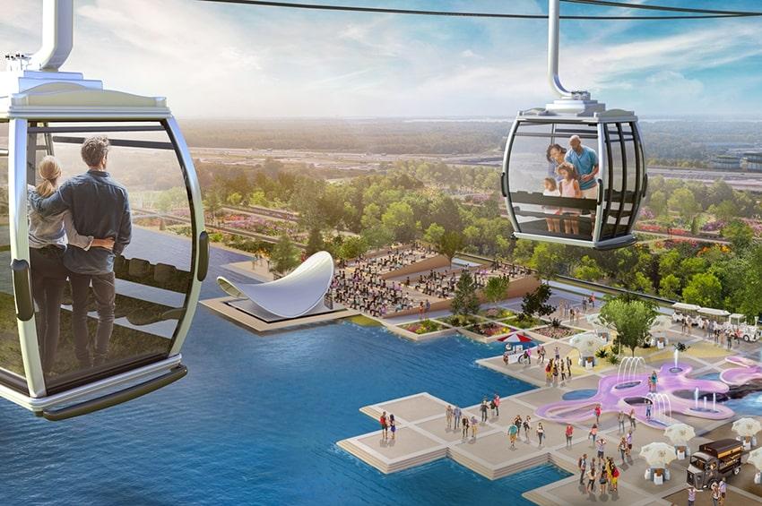Floriade Expo 2022: il cantiere in anteprima visto dalla cabinovia