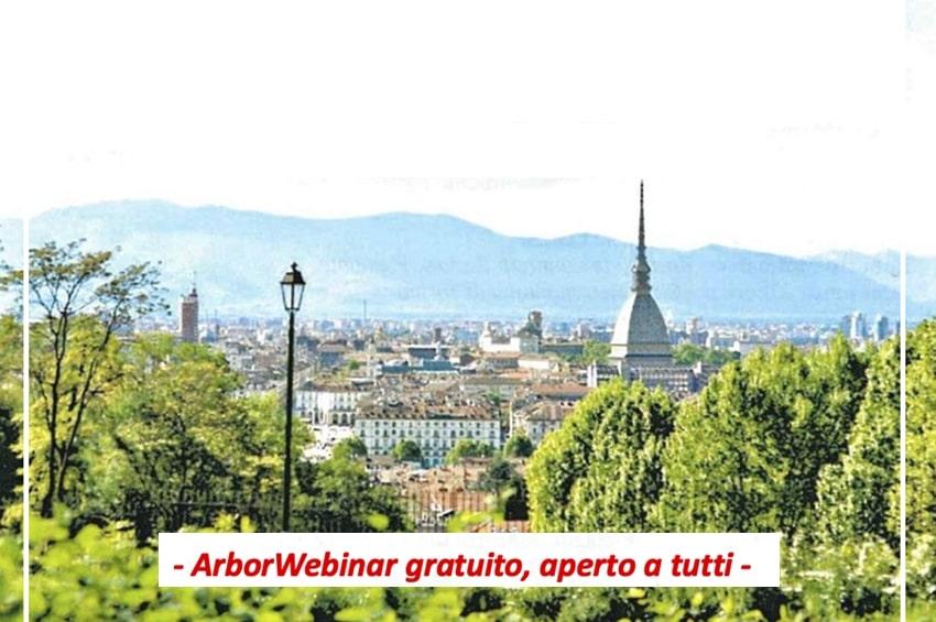 Venerdì 30 Aprile ArborWebinar sul Piano Strategico Verde della città di Torino