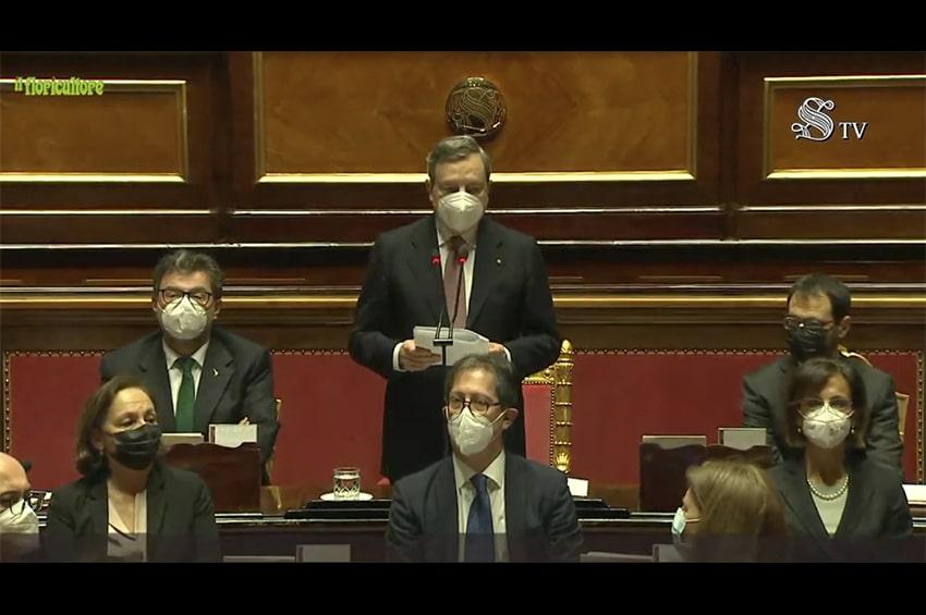 Draghi al Senato, il discorso integrale per la fiducia